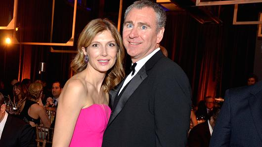 Anne Dias-Griffin, founder and managing partner of Aragon Global Management, left, and Ken Griffin, chief executive officer and founder of Citadel Advisors in 2013.